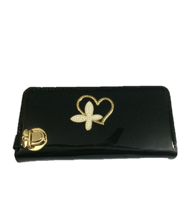Slunk  Black Non Leather Long Wallet