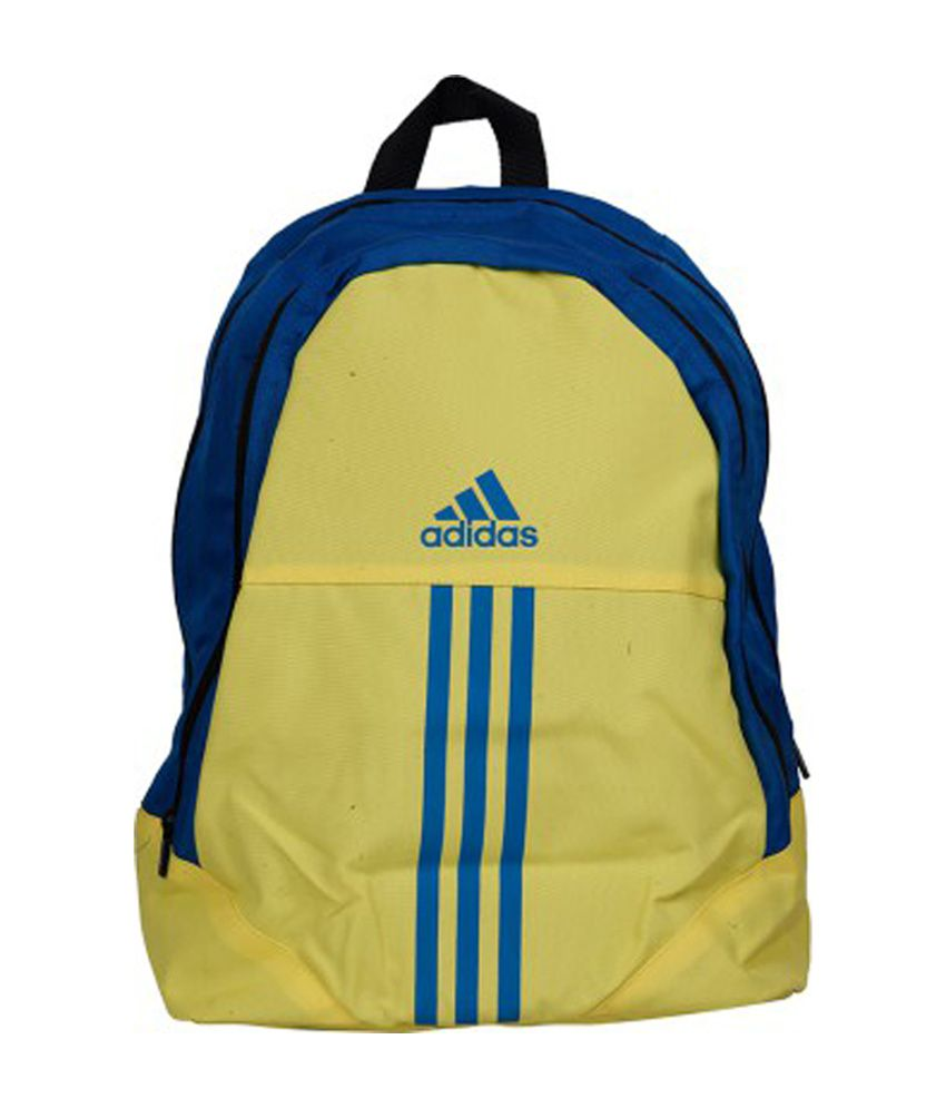 17b1777573 Adidas Yellow & Blue Polyester Backpack (AA8482) - Buy Adidas Yellow & Blue  Polyester Backpack (AA8482) Online at Low Price - Snapdeal