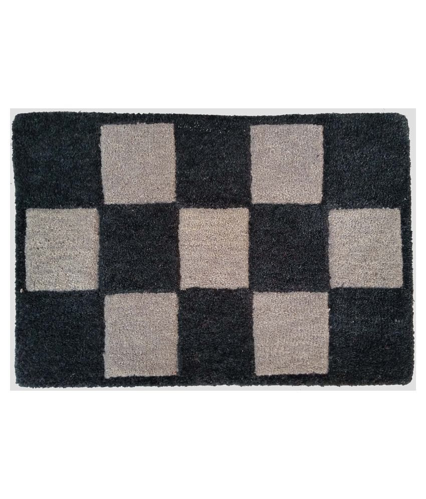 Amit Carpet Black Cotton Floor Mat