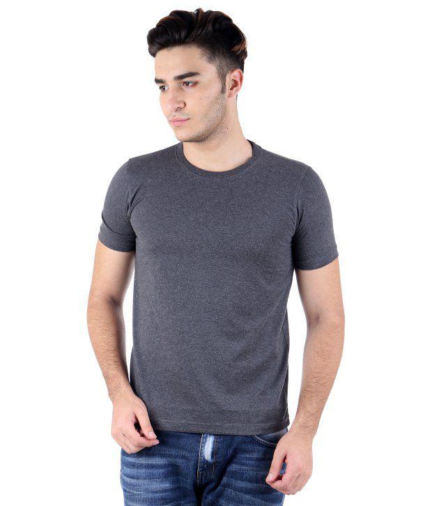 Perfect 10 Grey Cotton Blend T-Shirt