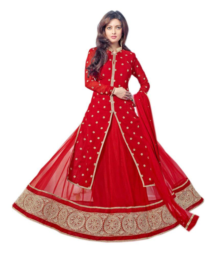 d4563d29bd Fabliva Fabulous Latest Heavy Designer Red Anarkali Suits - Buy Fabliva  Fabulous Latest Heavy Designer Red Anarkali Suits Online at Best Prices in  India on ...
