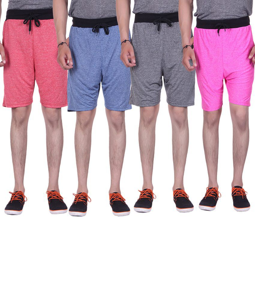 Gag Wear Multicolour Pack of 4 Solid Milang Shorts