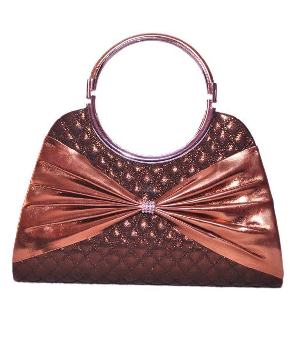 Hunar India Brown P.u. Hand Bag