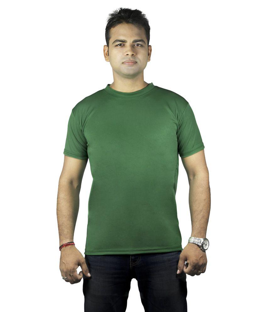 Krishna Devi Traders LLP Plain Polyster Green T-Shirt Set Of 6
