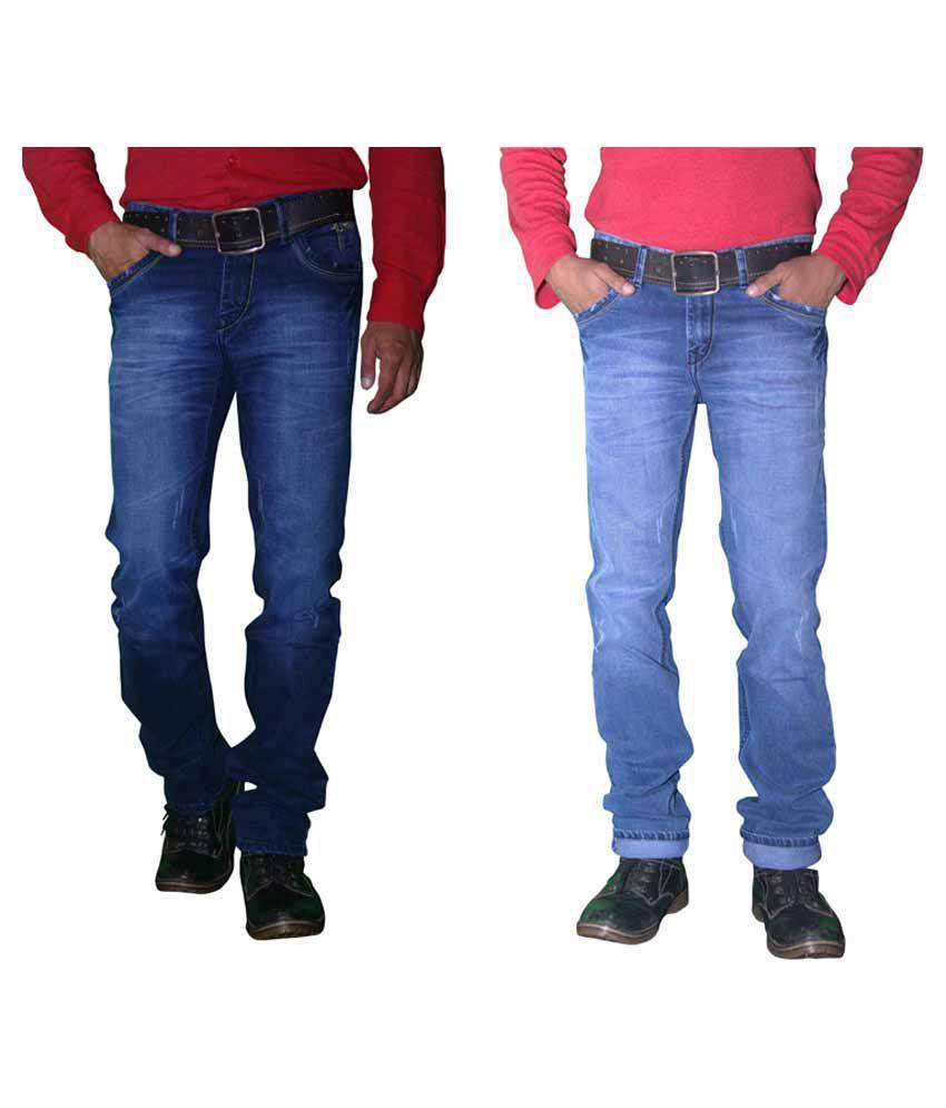 Forma Blue Regular Fit Jeans Set Of 2