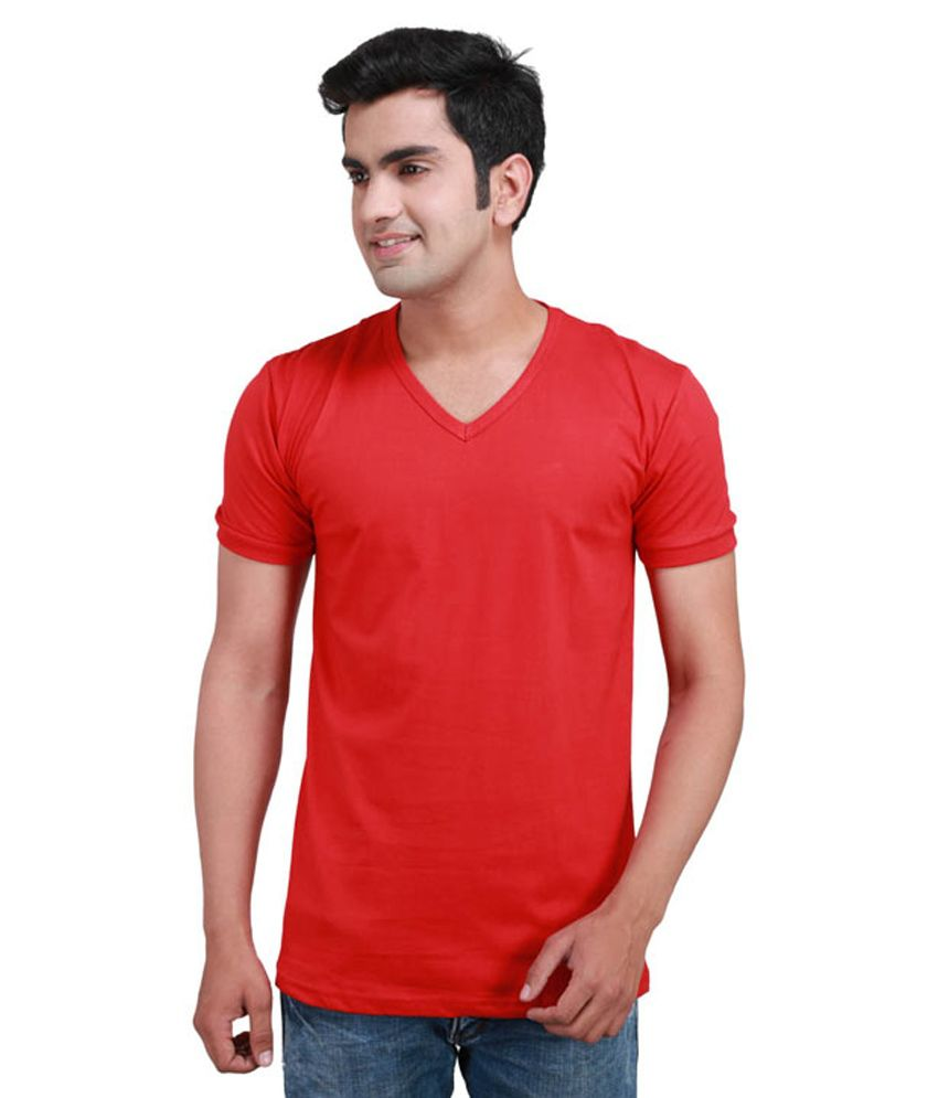 Mrv Red Cotton T-shirt