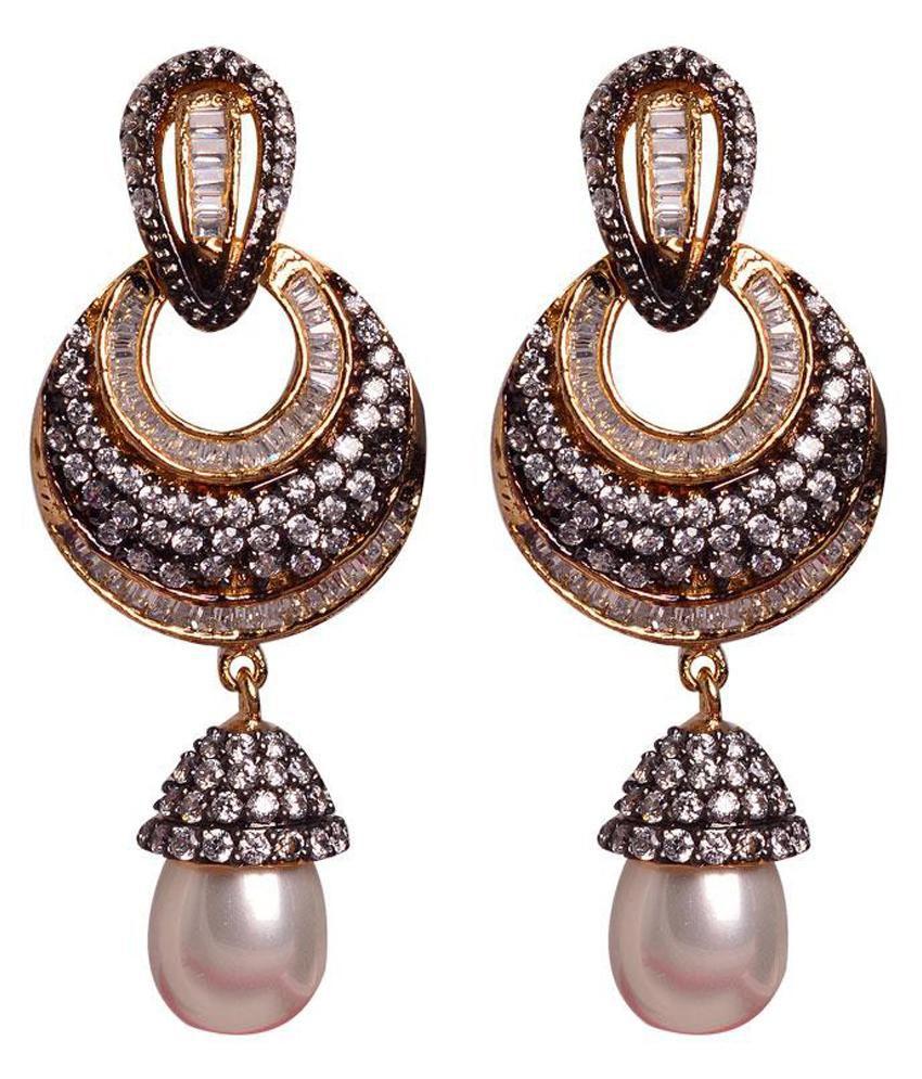 Swanvi Multicolor Alloy American Diamonds Earrings
