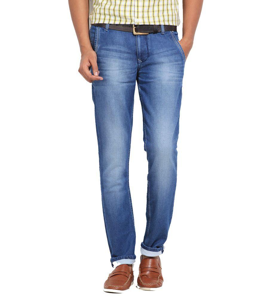 Top Banana Denim Slim Fit Cotton Blue Jeans