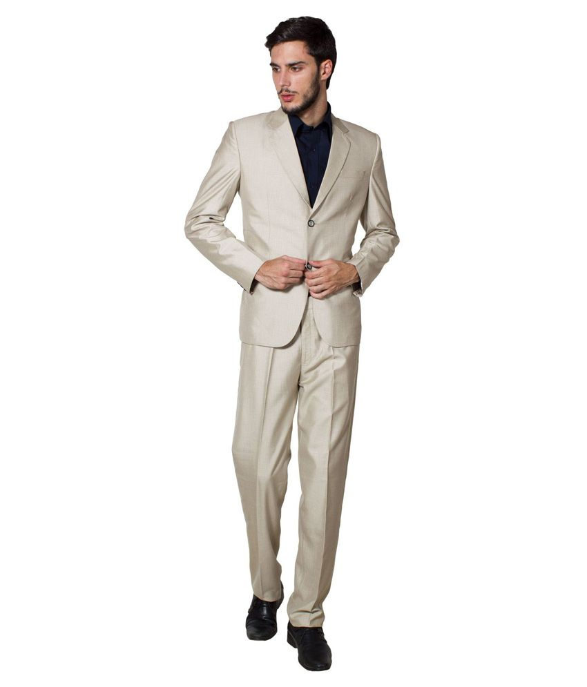 Wintage Beige Formal Suit