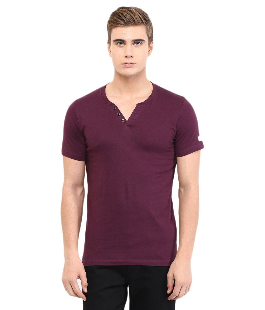Chromozome Purple Cotton T-shirt Pack Of 2
