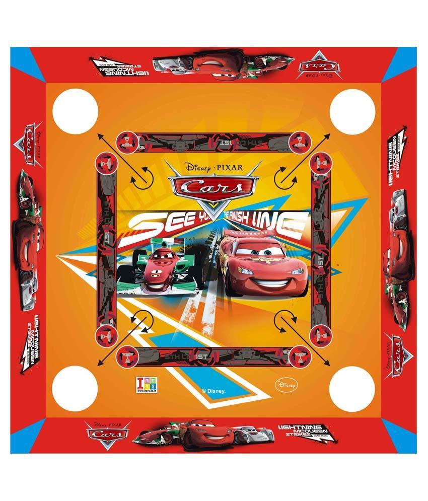 Disney Pixar-cars Carrom Board And Board Game - Multicolour
