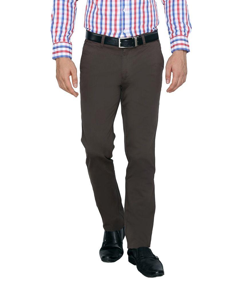 FN Jeans Grey Regular Fit Formal Trouser