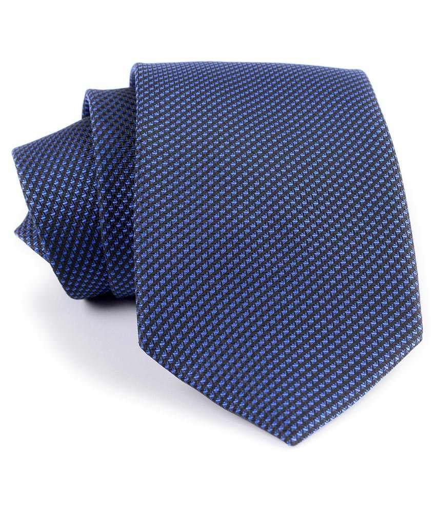 Aeht 1010-431 Blue With Black Lines Necktie