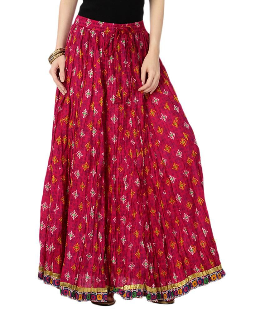 cd4b6f0ee Akkriti by Pantaloons Red Ethnic Long Skirt - Buy Akkriti by Pantaloons Red  Ethnic Long Skirt Online at Best Prices in India on Snapdeal