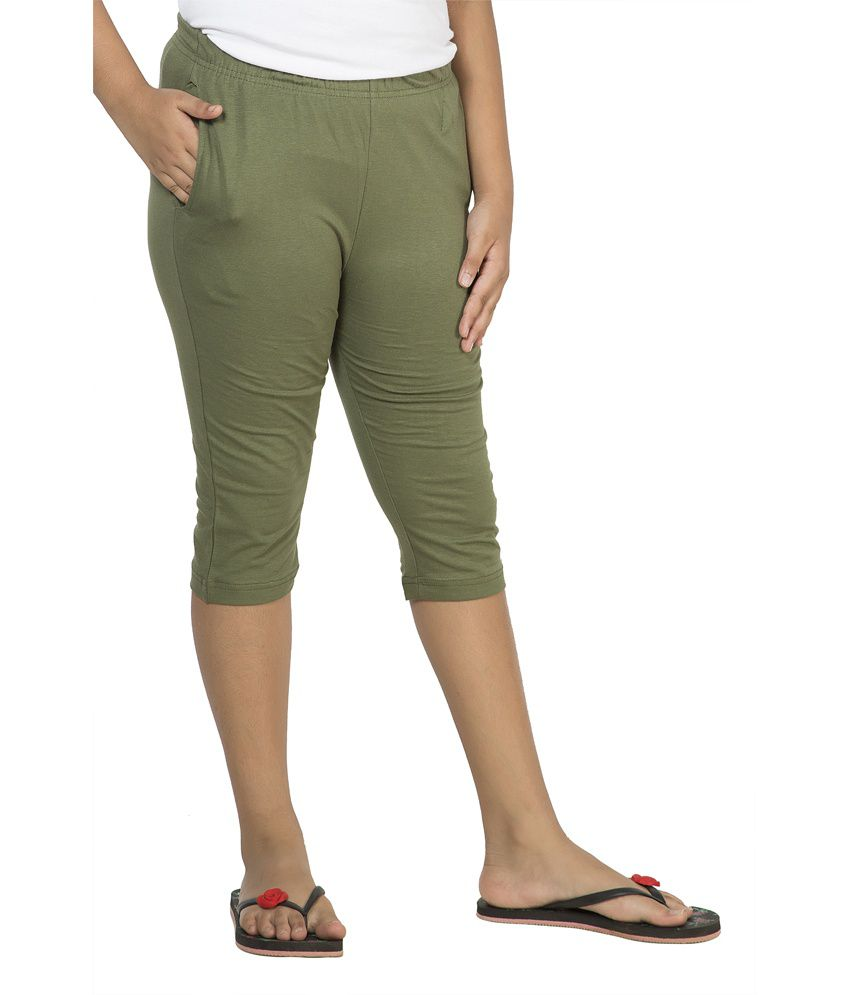 Clifton Green Cotton Capri