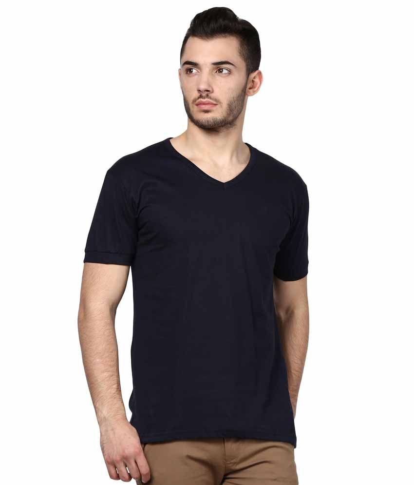 INKOVY Navy Cotton T-shirt