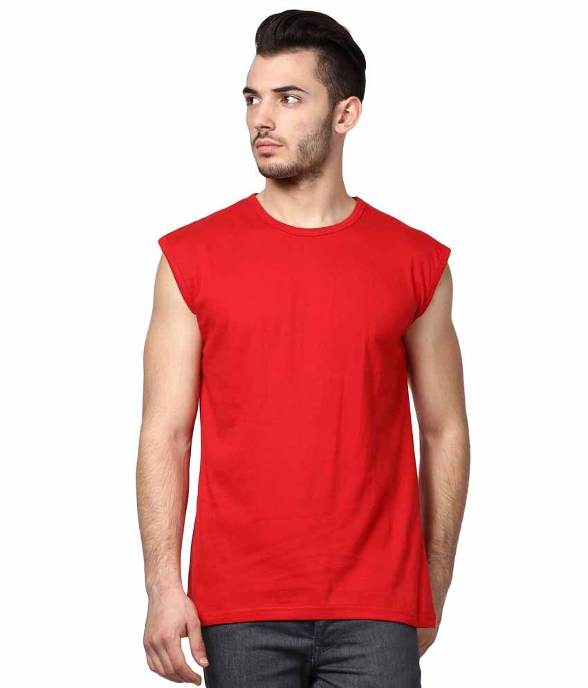 INKOVY Red Cotton T-shirt