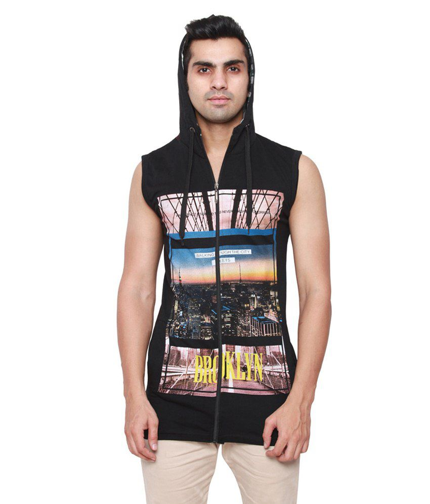 Onlinemaniya Black Cotton T Shirt