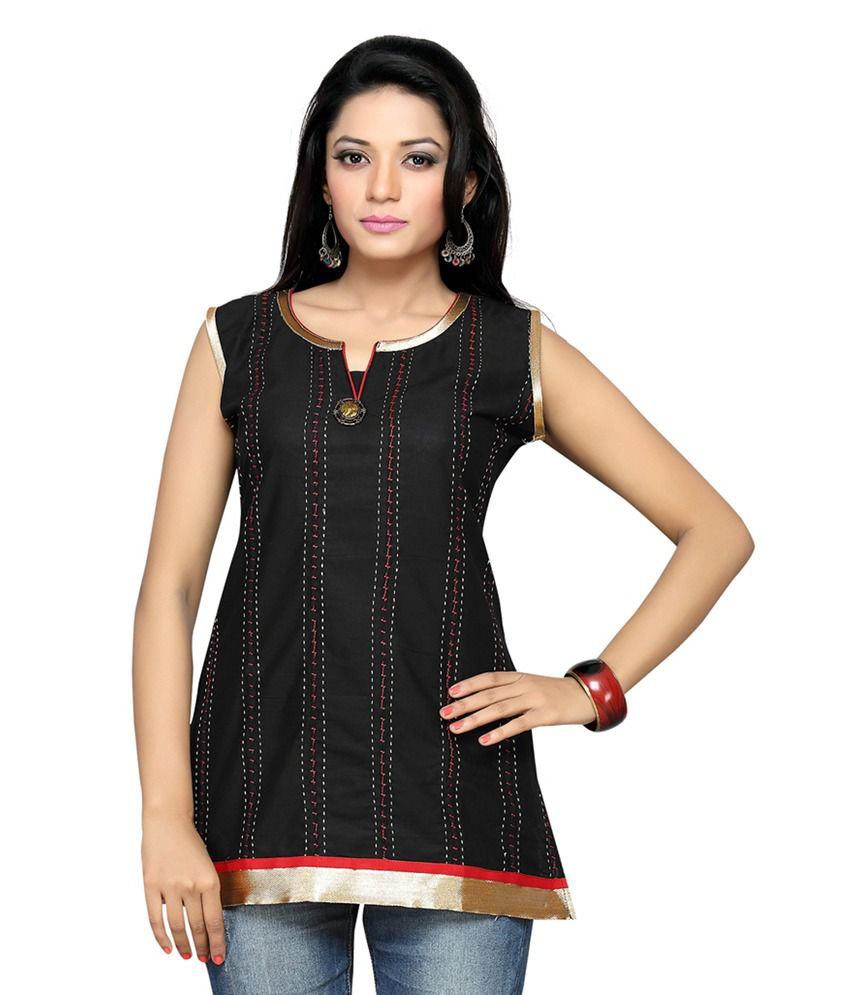 Salwar Studio Black Cotton Kurti