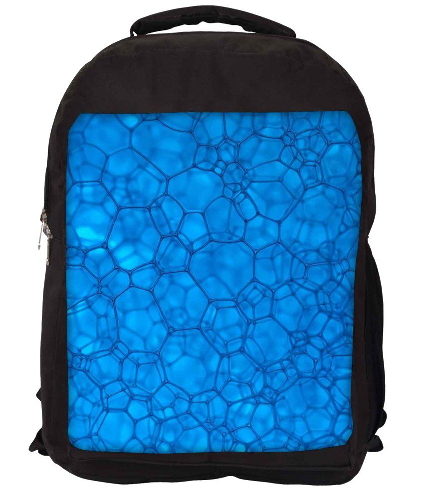 Snoogg Blue Nylon Laptop Backpack