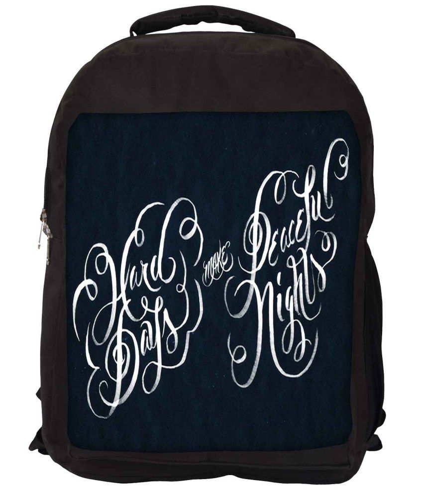 Snoogg Blue and White Nylon Laptop Backpack