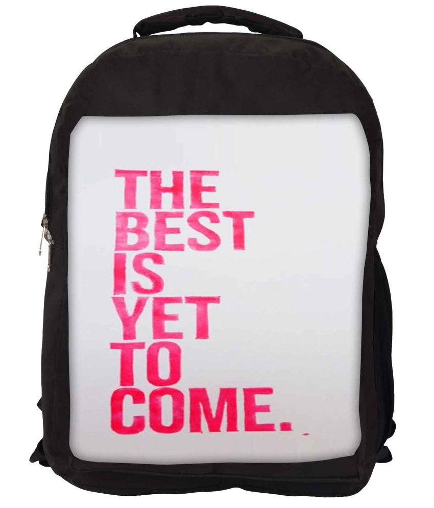 Snoogg Grey and Pink Nylon Laptop Backpack