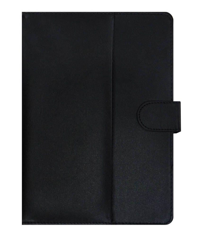 ACM Leather Flip Cover For Asus Zenpad 10 Z300c - Black