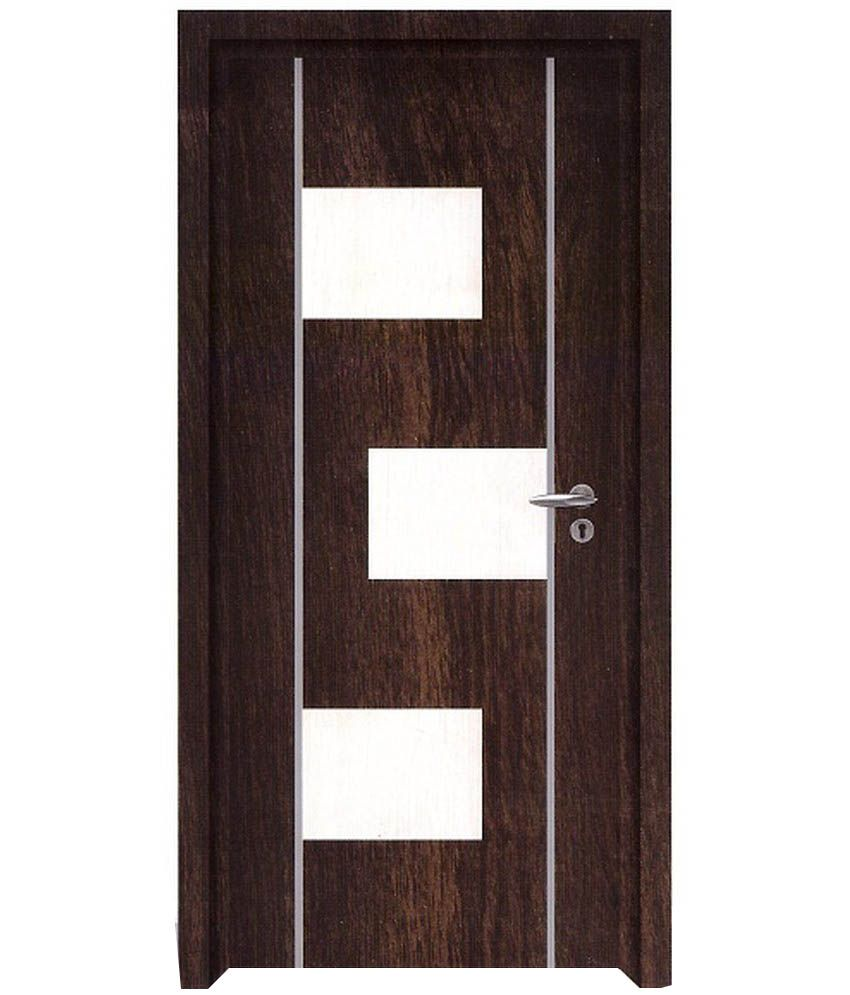 Buy doors floors laminated doors online at low price in for Plywood door design