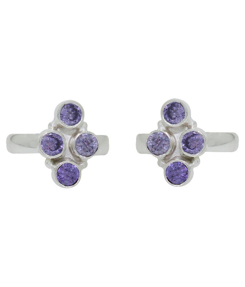 Frabjous Purple Designer Toe-ring