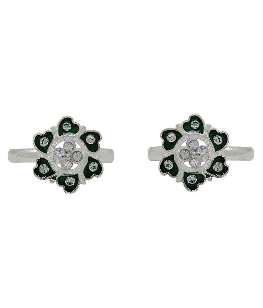 Frabjous Silver Designer Toe-ring