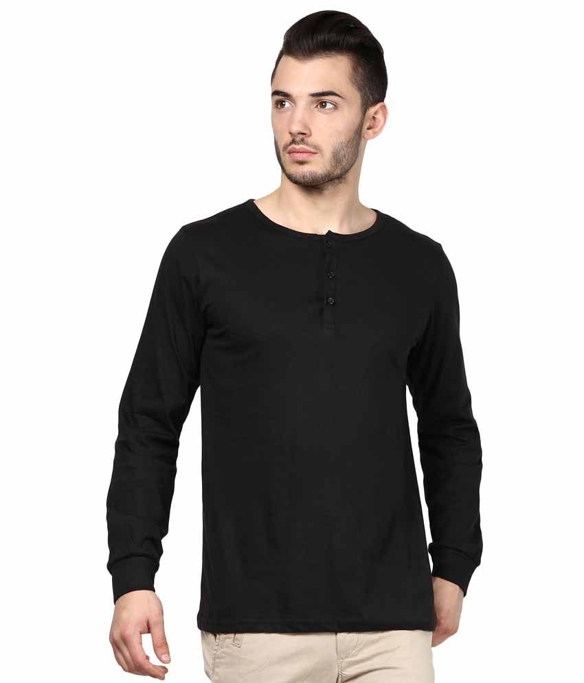 INKOVY Black Cotton T-shirt