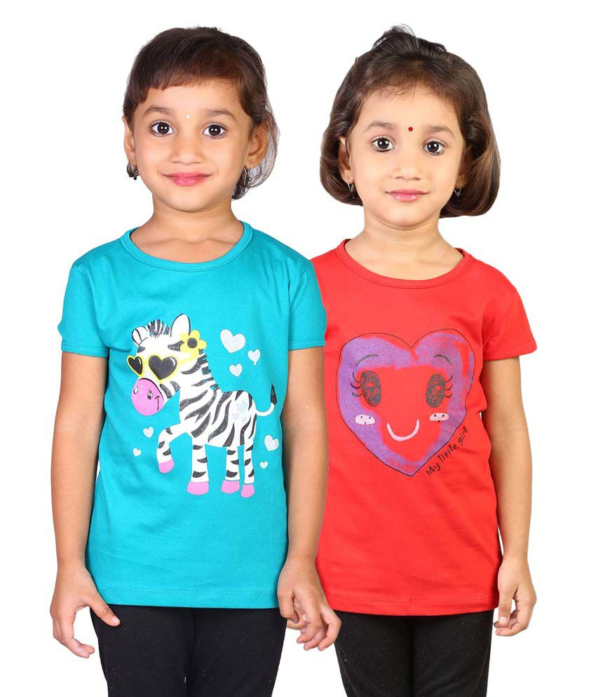 My Little Joy Multicolor Tops For Girl - Pack Of 2