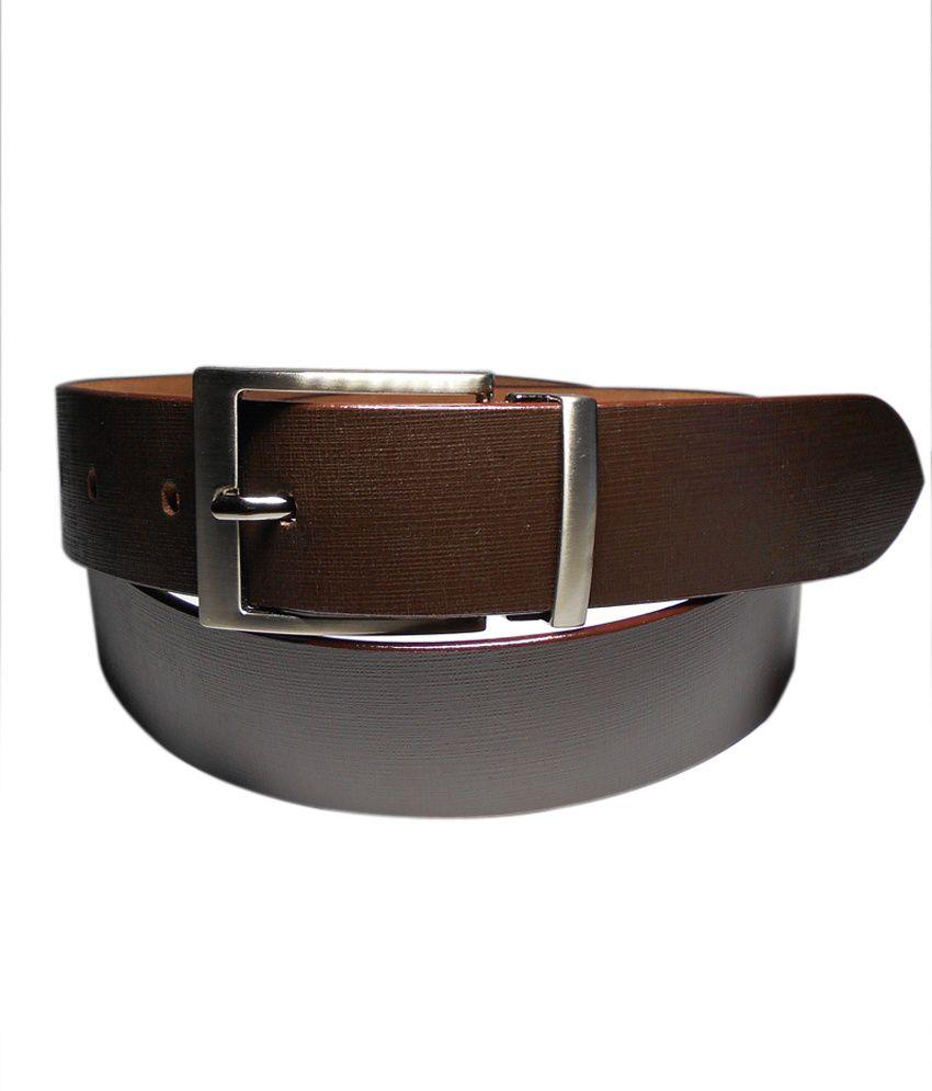 Navie Brown Leather Belt
