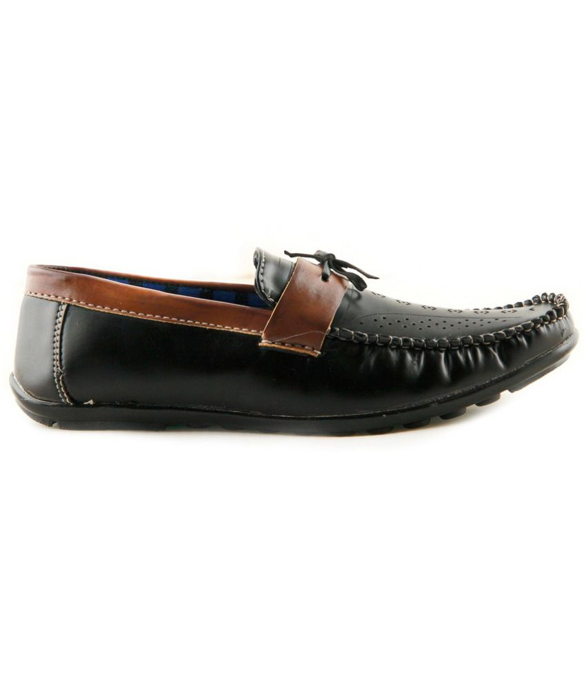 9dde88e928adc7 Splendor Black Loafers - Buy Splendor Black Loafers Online at Best ...