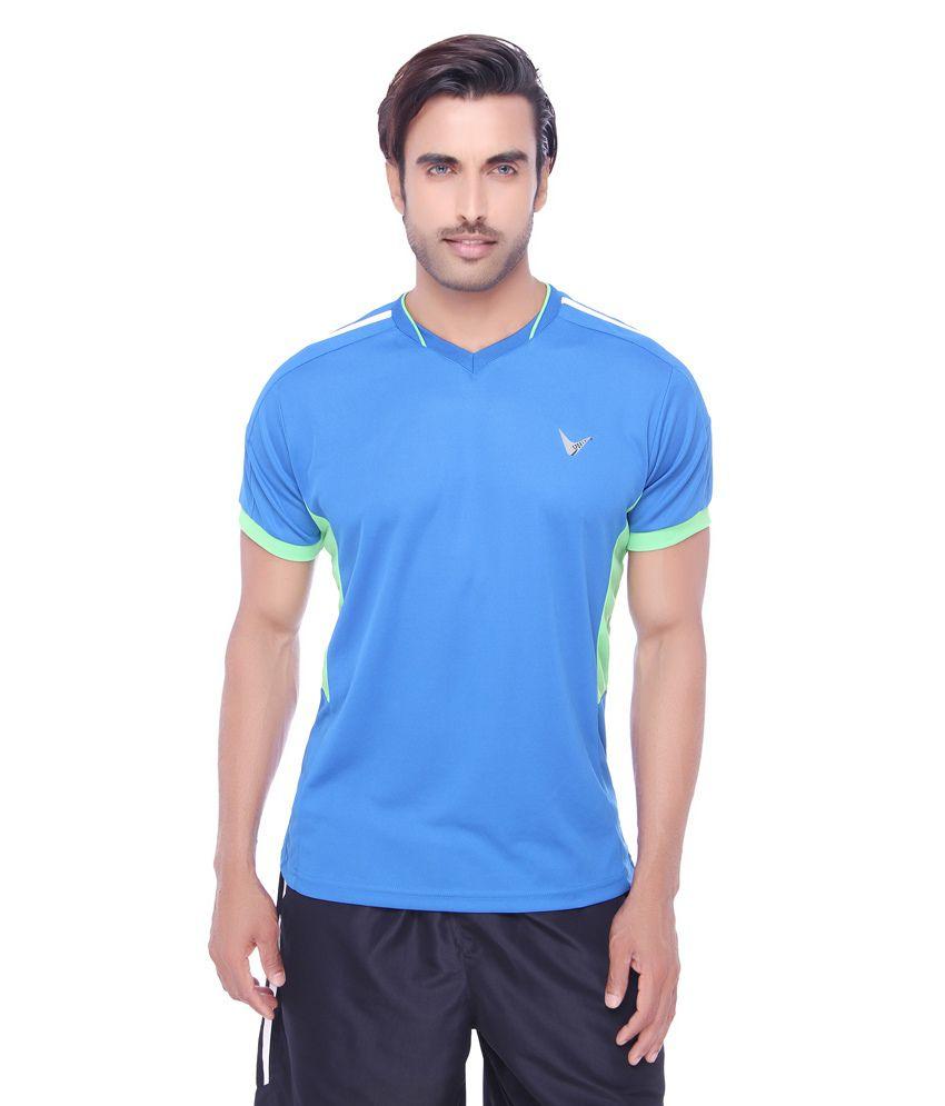 Valentine Men's Pique Fabric Sports T-Shirt-Firozi