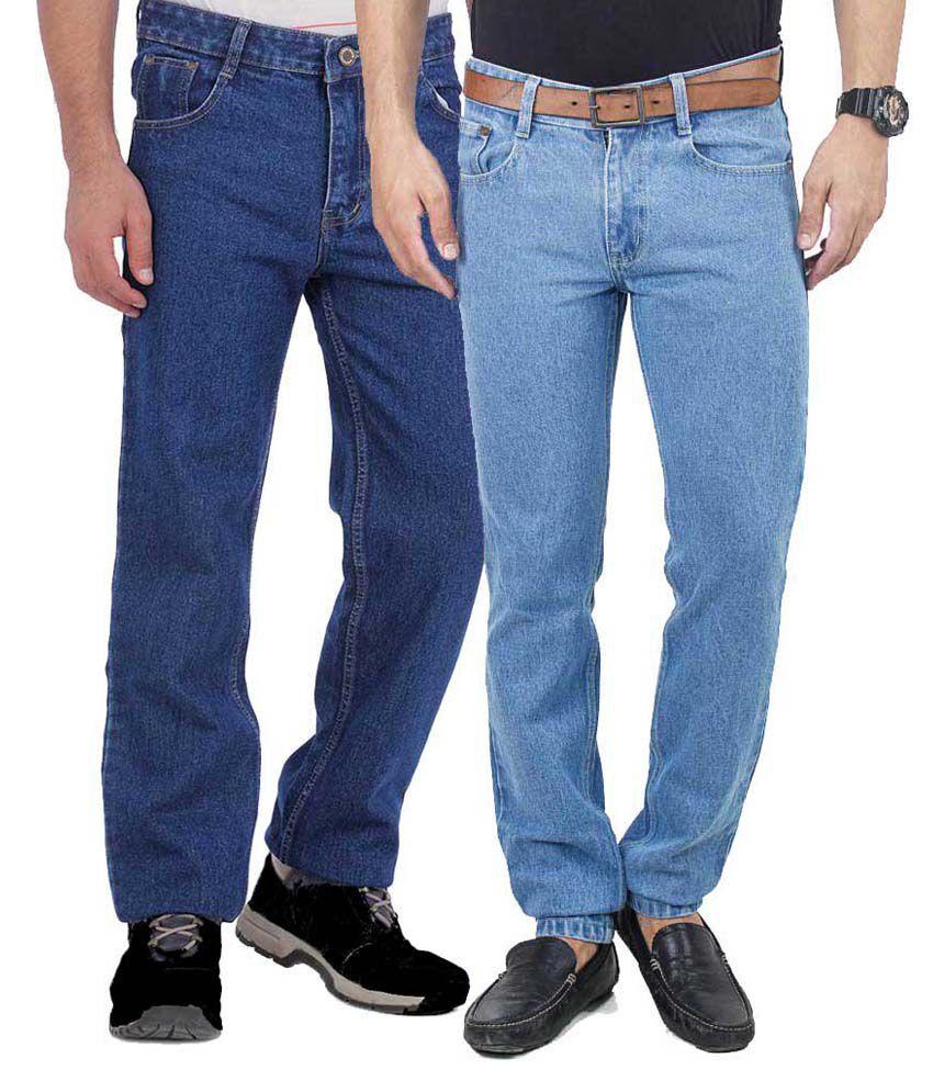 Vape Blue Regular Fit Jeans - Set Of 2