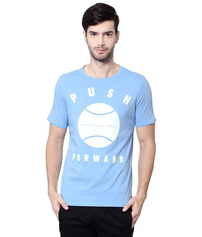 Ajile by Pantaloons Blue & White Printed Activewear T Shirt