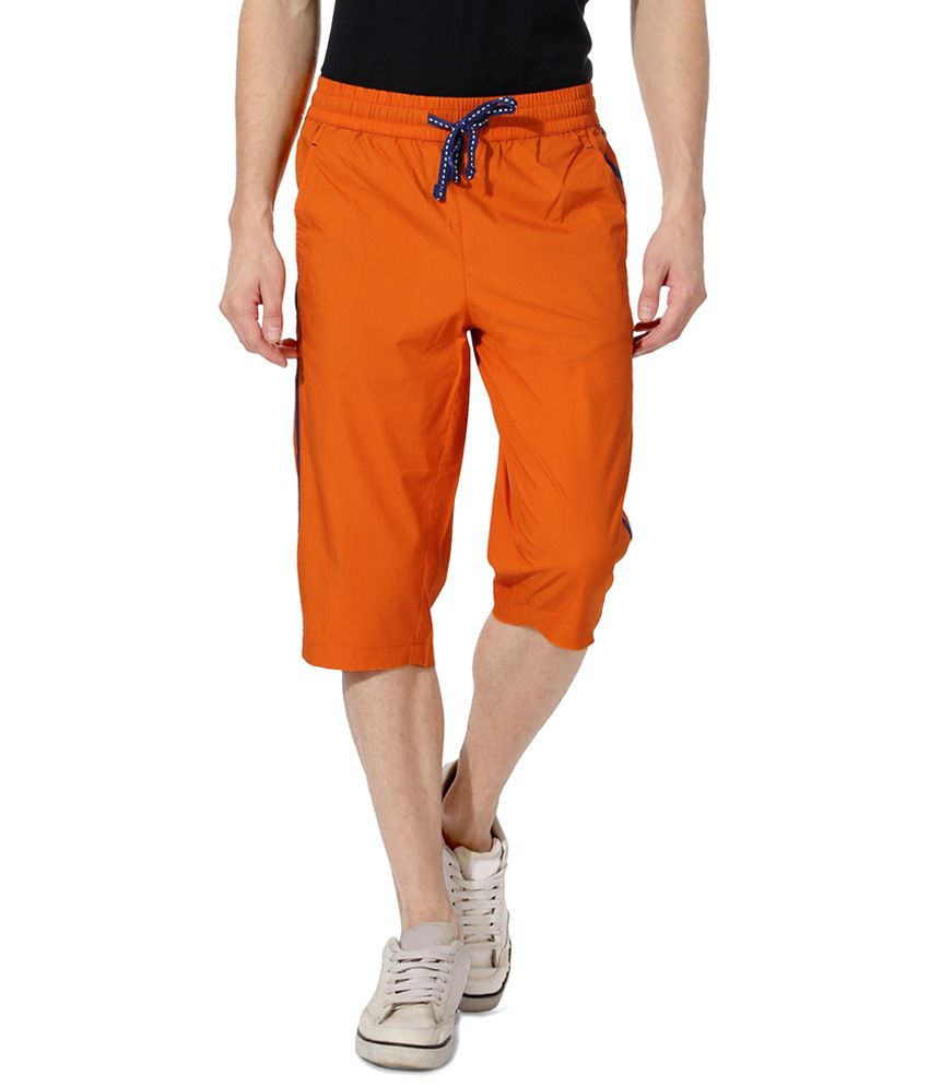 Ajile by Pantaloons Orange Casual Activewear Crop Sweatpants