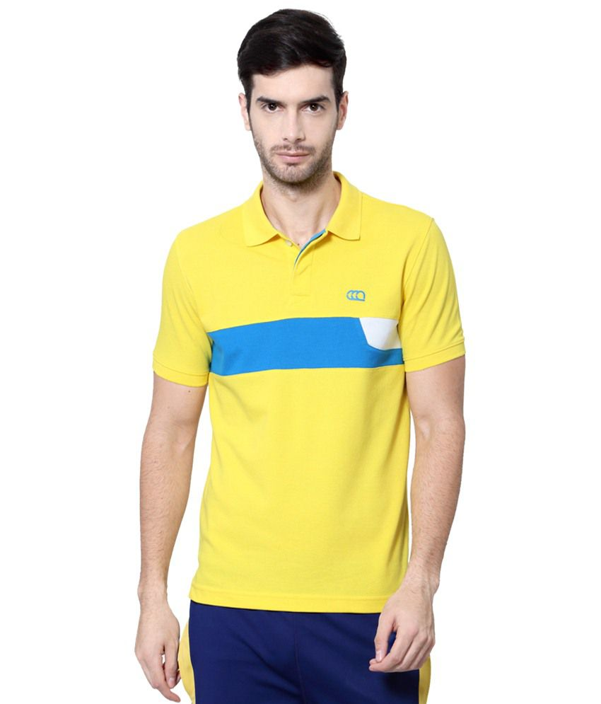 Ajile by Pantaloons Yellow & Blue Solid Activewear T Shirt