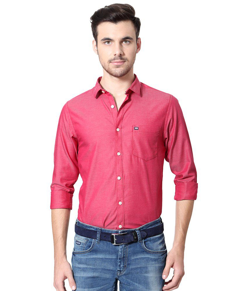 637724b3 Byford by Pantaloons Pink Shirt for Men - Buy Byford by Pantaloons Pink  Shirt for Men Online at Best Prices in India on Snapdeal