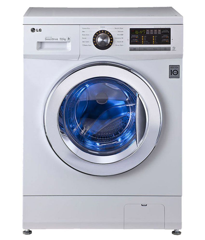 LG 7 296 HDL23 BST Fully Automatic Front Load Washing Machine White