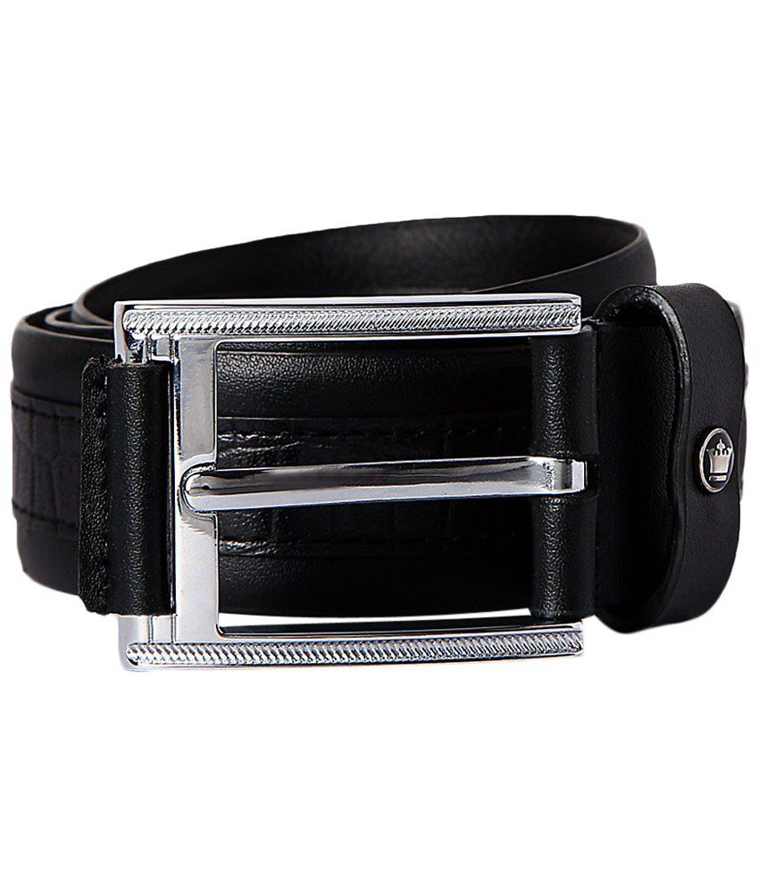 Louis Philippe Black Casual Belt