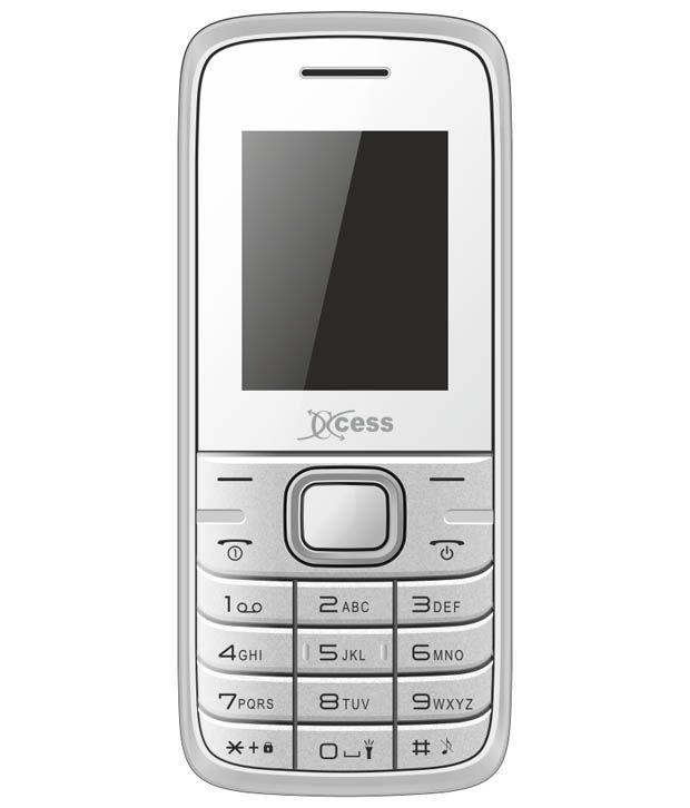 Xccess Gem + White Gsm+Gsm Dual Sim Feature Phone