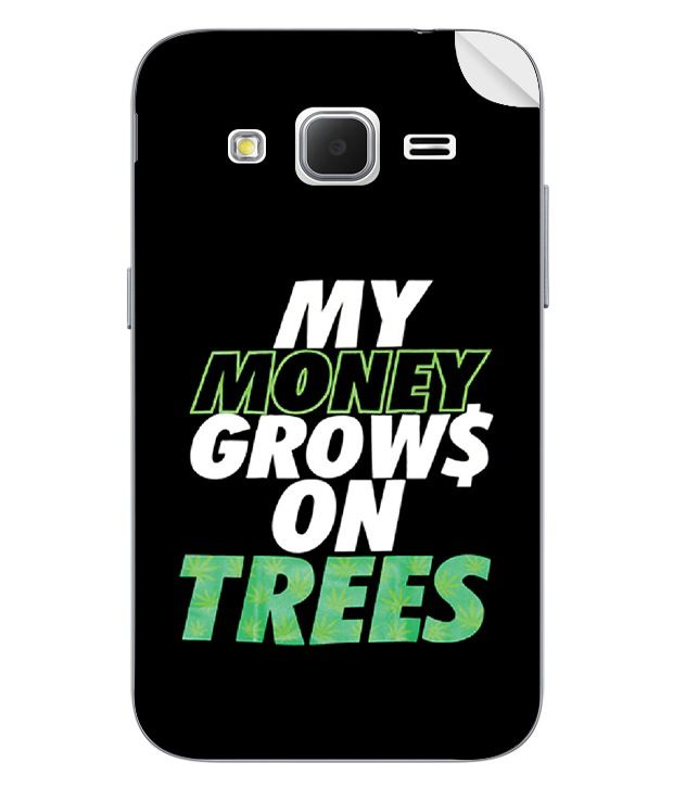 ezyPRNT Back Skin Sticker for Samsung Galaxy Core Prime My Money Grows On Trees