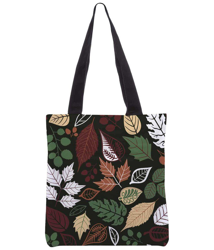 Snoogg Green & Brown Polyester Unisex Tote Bag