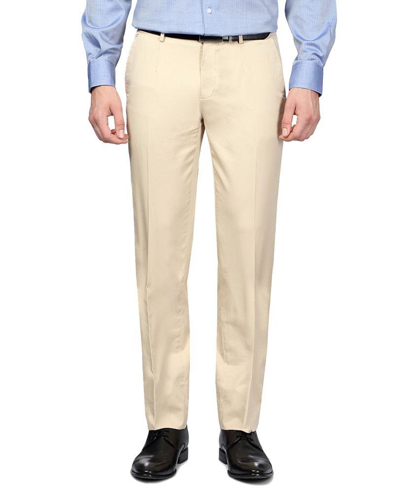 Van Heusen Beige Formal Trousers