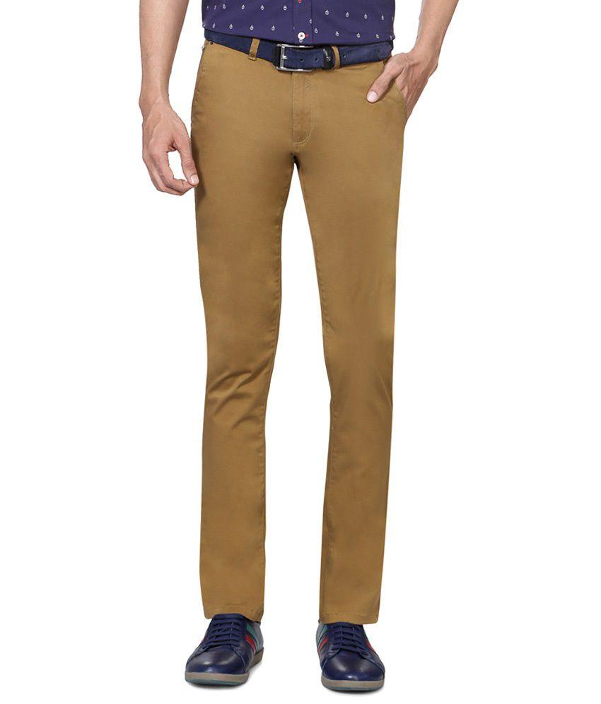Van Heusen Brown Casual Trousers