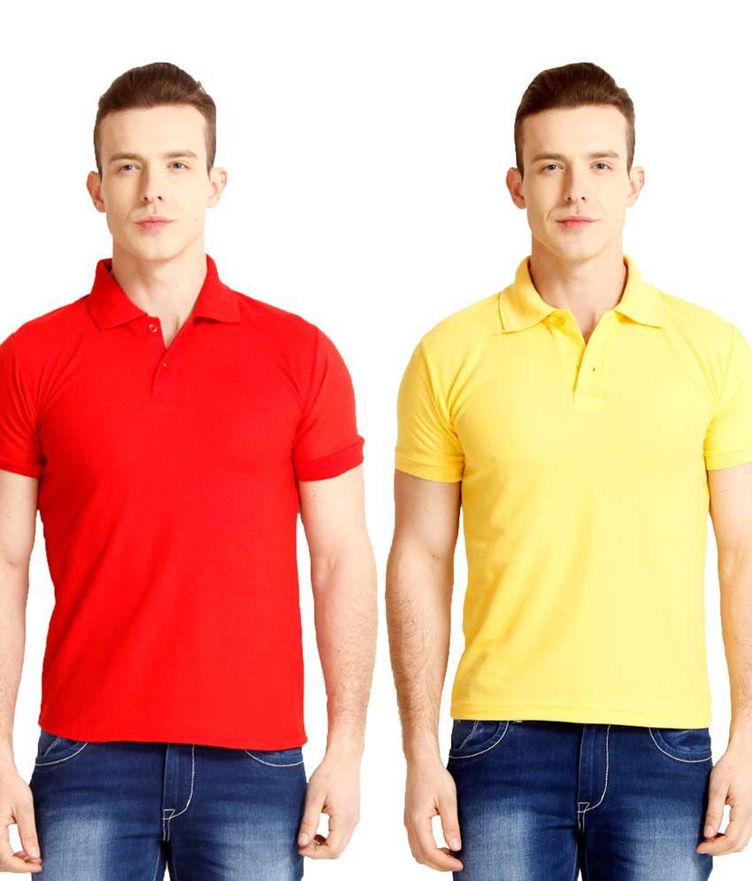 Nimya Multicolor Polo T-shirt - Pack Of 2