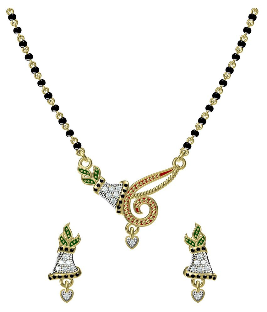 Ooh Chhori Fashion Multicolor Alloy Gold Plated Manglasutra Set