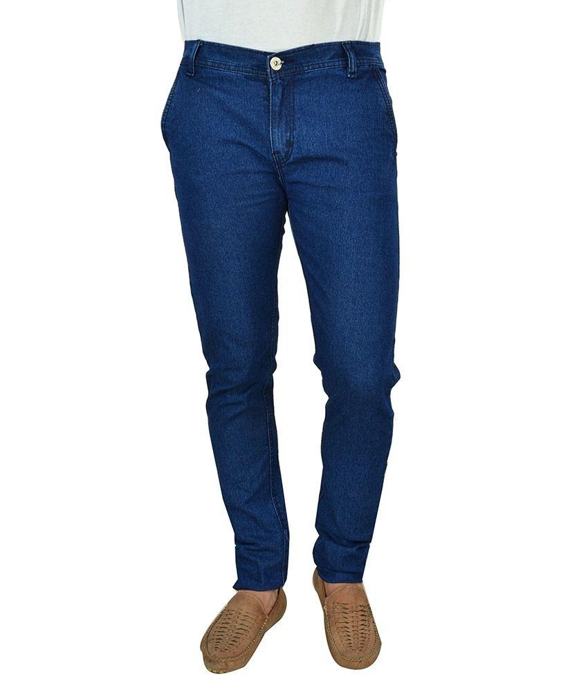 Fashion Blue Slim Fit Jeans